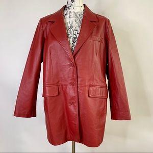 Veranesi Leather Jacket Size 18W